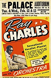 AZ83 Vintage Ray Charles And Orchestra Rock & Roll Band Gig Concert Advertisement Poster Print - A3 (432 x 305mm) 16.5