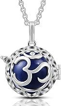AEONSLOVE Yoga Aum Om Ohm Sanskrit Harmony Ball Chime Bell Necklaces Pendant 30
