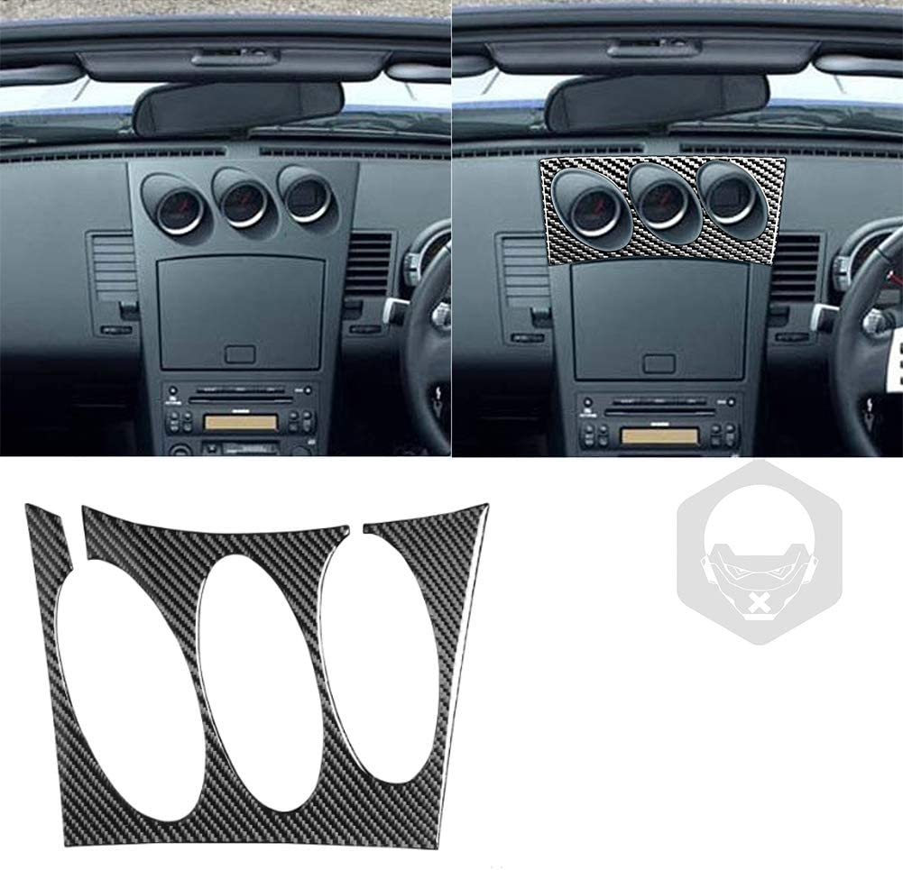 Car Carbon fiber Center Console store Pa Discount mail order Button Air Radio Conditioning