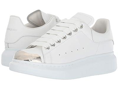 Alexander McQueen Oversized Sneakers (White/Silver) Women