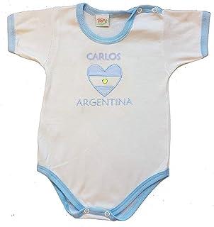 Zigozago - Body con ricamo ARGENTINA+ nome personalizzato.
