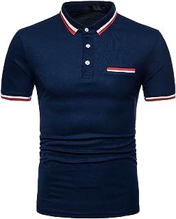 シャツ メンズ ゴルフウェア 半袖 Tシャツ ビジネス Tシャツ 男性用 ポロシャツ 2021 春 夏 折り襟 Tシャツ 半袖 Vネック tシャツ メンズ トップス スムース 肌着 カットソー 半袖シャツ 韓国式 コーディネート服 ポケット付き