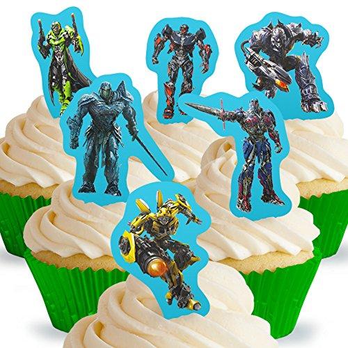 Toppershack 12 x decoración para pasteles comestibles PRECORTADAS de Transformers