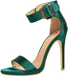 9a4de3328 Sandali tacco alto da donna sexy open toe sandali con tacco alto, verde, 38