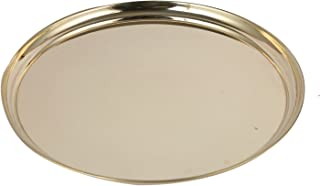 Aatm Decorative & Attractive Brass Plate-Small Best Use for Puja Dinning Table Diwali Purpose
