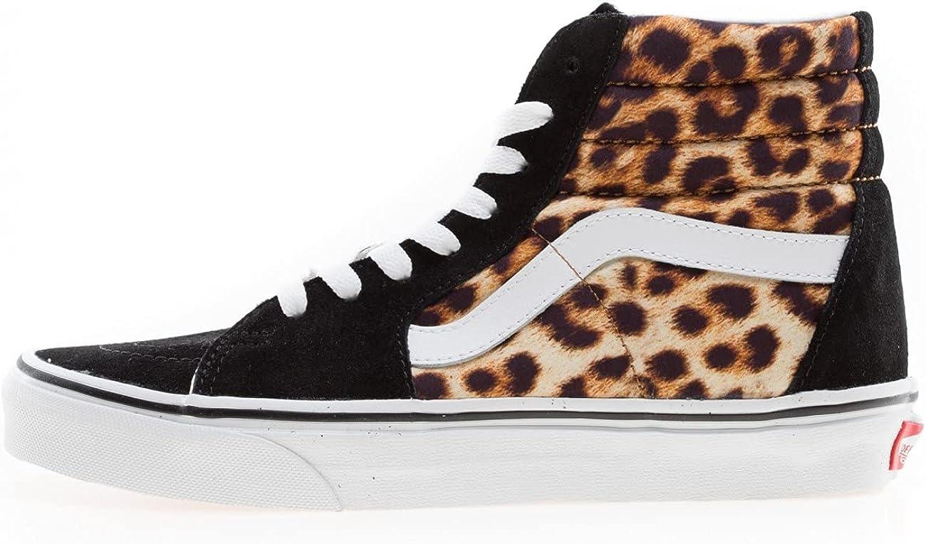 Vans SK8-HI Leopard Chaussures DE Sport pour Femme Noir VN0A4U3C3I6