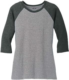 Joe`s USA Ladies Raglan Baseball T-Shirts-3/4 Sleeve Baseball Tees. Sizes XS-4XL