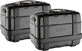 Givi Trekker Monokey 46 Liter Aluminum Top/Side Case (2 Cases) (Black)