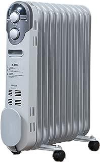 [山善] オイルヒーター(1200/700/500W 3段階切替式)(温度調節機能付)(24時間入切タイマー付) ホワイト DO-TL124(W) [メーカー保証1年]