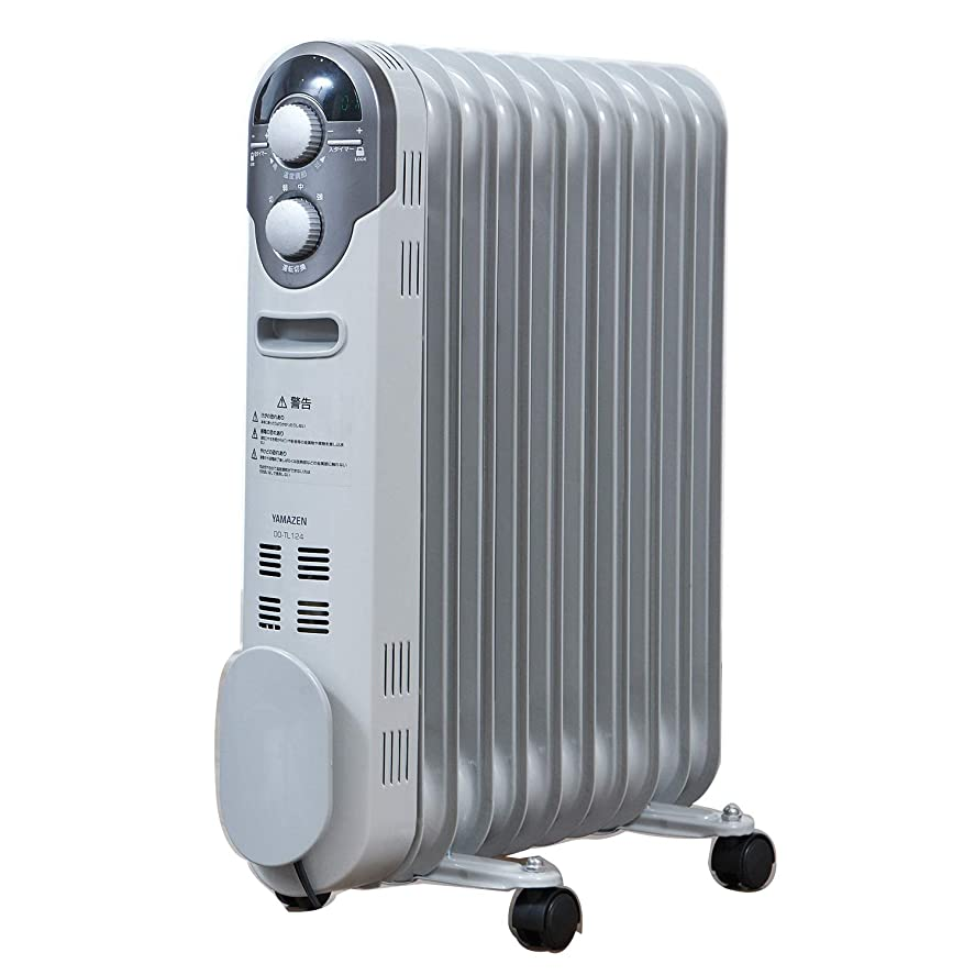 ラグ醸造所火山学者山善 オイルヒーター(1200/700/500W 3段階切替式)(温度調節機能付)(24時間入切タイマー付) ホワイト DO-TL124(W)