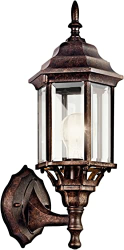 """high quality Chesapeake 17"""" 1 Light Outdoor Wall Light with Clear Beveled Glass online sale in outlet online sale Tannery Bronze sale"""