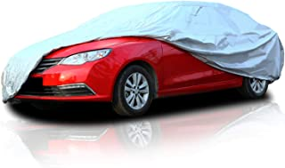 Ohuhu Car Cover for Sedan Outdoor, Car Covers Windproof UV Protection Dustproof Scratch Resistant Universal Auto Vehicle Cover for Sedan L (191