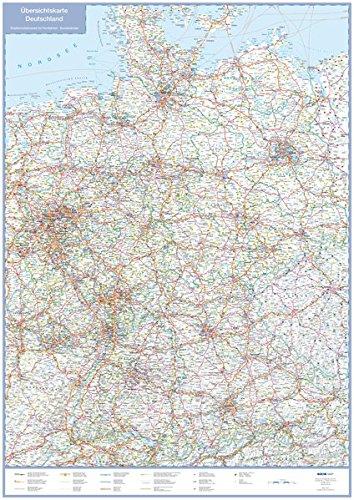 Übersichtskarte Deutschland: Straßenverkehrsnetz für Fernfahrten, Bundesländer (Busche Planokarten)