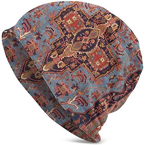 Gorros Unisex Gorros Tradicionales Persas Isfahan Estilo De Alfombra Vintage Impresión Cráneo...