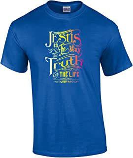 Jesus is The Way Adult Christian T-Shirt-antiqueroyal