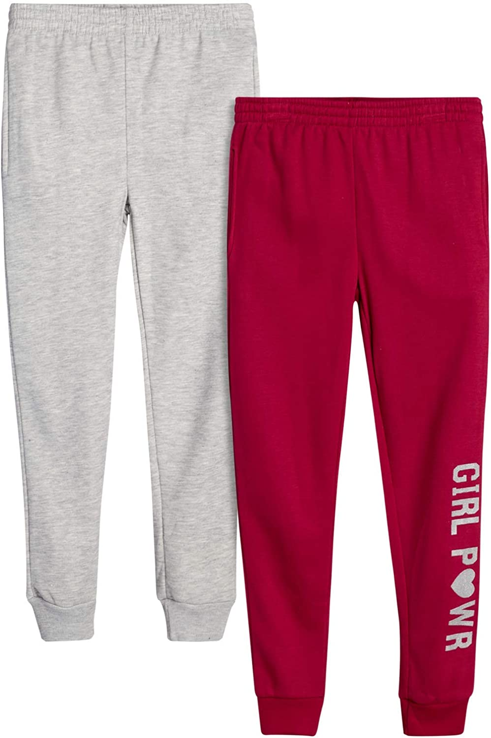 Real Love Girls' Fleece Jogger Pockets Pants OFFer and Attention brand with Print
