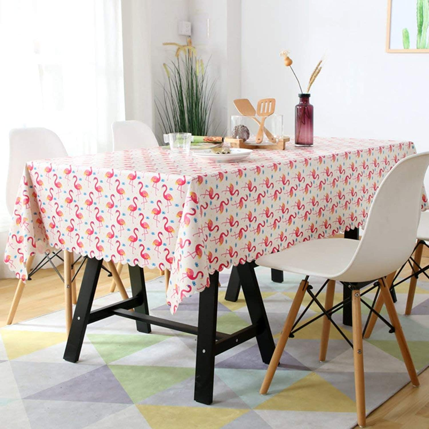 muchas sorpresas WENYAO Tablecloth Oil-Proof Anti-Hot Waterproof Waterproof Waterproof Cloth Art Tabcoffee tabplacemat Continental rectangCotton and Linen Small Fresh,M_140x140cm  Tienda 2018