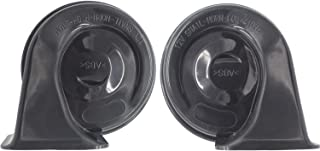 MESHUBA Car Electric Loud Auto Horn High and Low Tone Universal with Bracket for 12V Cars, SUVs, RVs, Vans, Motorcycles, Pick-up Trucks, Off-Road Boats (2 Pieces)