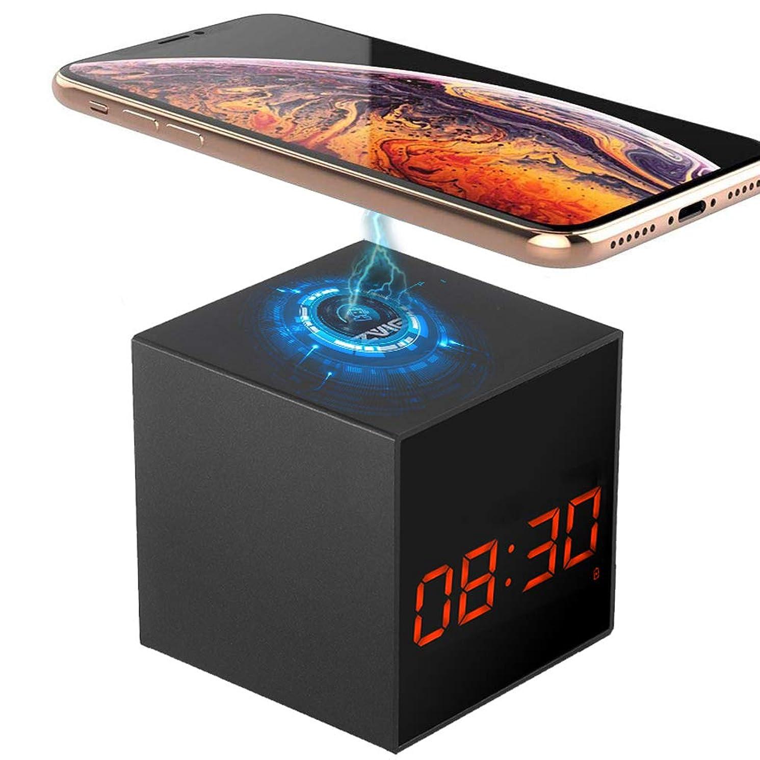 LIZVIE Hidden Spy Cube Clock Nanny Camera with Enhanced Night Vision,Motion Detection, Invisible Lens, Video Recorder, 12&24 Alarm Clock (Wireless Base)