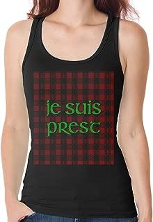 Vilcoo Women's Fraser Flowy Tank Tops JE Suis Prest Crop Tank Tops