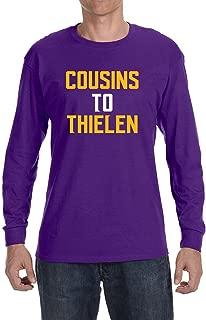 Tobin Clothing Purple Minnesota Cousins to Thielen Long Sleeve Shirt