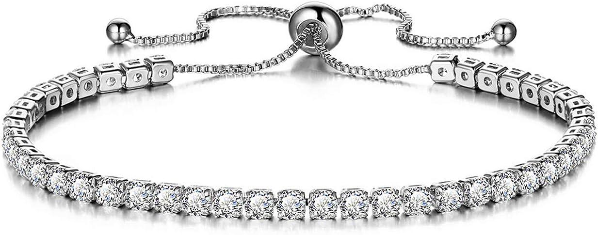 half 925 Sterling Silver Sparking Bracelets Factory outlet Women Zirconia For Cubic