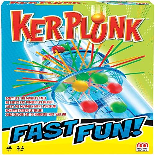 Mattel Games- Fast Fun KerPLunk Juego de mesa para niños (FPR07)