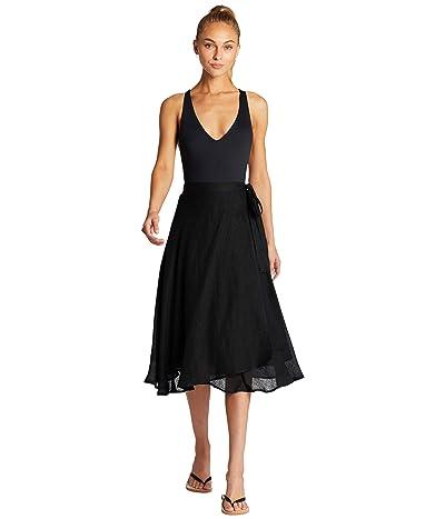 Vitamin A Lana Skirt Cover-Up (EcoLinen Gauze Black) Women