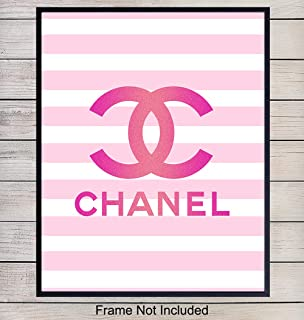 Chanel Wall Art, Home Decor - Designer Coco Poster, Print - Unique Chic Room Decorations for Bedroom, Living Room, Dorm - Gift for Wife, Women, Girls, Teens, Fashion Fan, Fashionista, 8x10 Photo