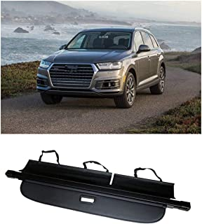 Cosilee Cargo Cover Trunk Retractable Cargo Luggage Security Shade Fit for Audi Q7 2017 2018 2019