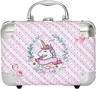 Unicorn Jewelry Box, Kids Storage Organizer for Earrings, Necklaces, Rings, Bracelets and Accessories. Makes Great Girls Gifts, goes with Any Bedroom Decor. (Pink)