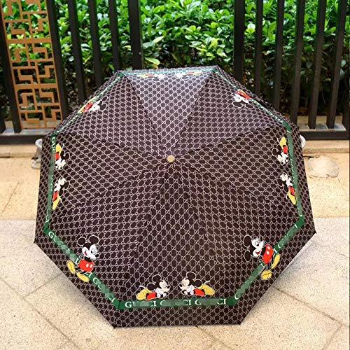 Ombrello piccolo mini cinque volte femminile protezione solare in vinile anti-ultravioletto ombrellone pieghevole ombrellone soleggiato-consegna negozio preferito priorità