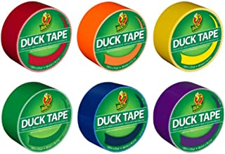 Duck Brand Color Duct Tape Rainbow Combo 6-Pack, Red, Orange, Yellow, Green, Blue and Purple, 115 Yards Total