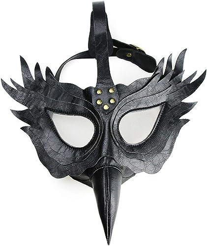 A la venta con descuento del 70%. Gothic PU Leather Plague Doctor Doctor Doctor Máscara Steam Punk Long Nose Beak Máscara negro Fiesta de Halloween Máscara Apoyos  mejor precio