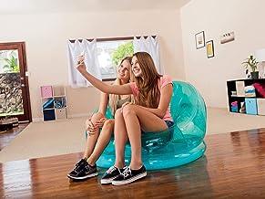 Intex Inflatable Transparent Chair, Green, 68594