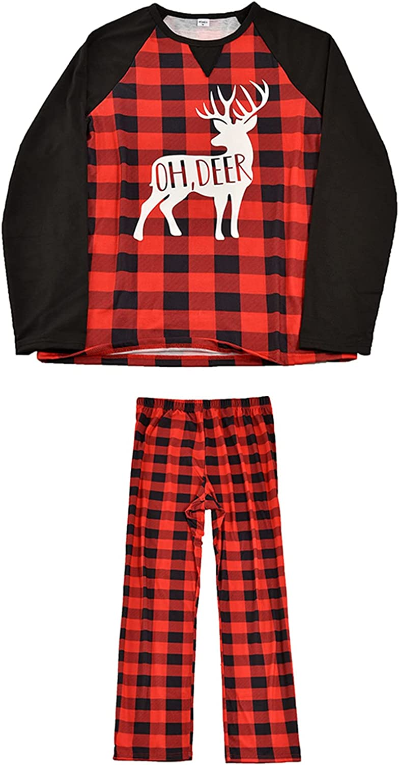 Special price Matching Christmas Outfits Red Plaid Family Cotto Free shipping Deer Sleepwear