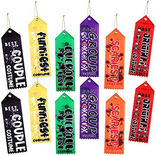 URATOT 12 Pieces Halloween Costume Contest Award Prize Ribbons Costume Award Ribbon for Halloween Award Party Celebration Costume Contest Rewards