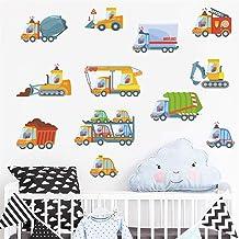 Serie 1 - Transporte, coches, vehículos de ingeniería, dibujos animados, camión, excavadora, tren de carga, motocicleta, autobús, barco, construcción, imagen simple, 45 x 60 cm
