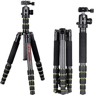 Mengen88 Travel Camera Tripod Portable Aluminum Camera Tripod Hand 360 Degree Panoramic Shooting for Mobile Digital SLR Cameras and Video Recorder Brackets
