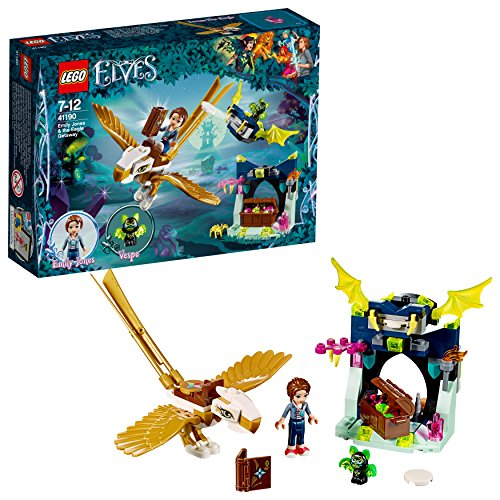 LEGO- Elves La Fuga sull'Aquila di Emily Jones, Multicolore, 41190