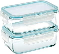 Taliona Borosilicate Glass Boro Pro Rectangular Food Container Set, Blue, 725 ml