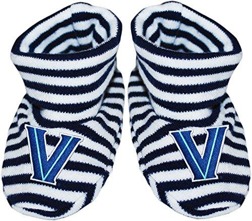 Villanova University Newborn Baby Striped Bootie Sock