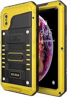 Beasyjoy iPhone Xs Max Metal Case Heavy Duty Built-in Screen Full Body Protective Waterproof Shockproof Tough Rugged Hybri...