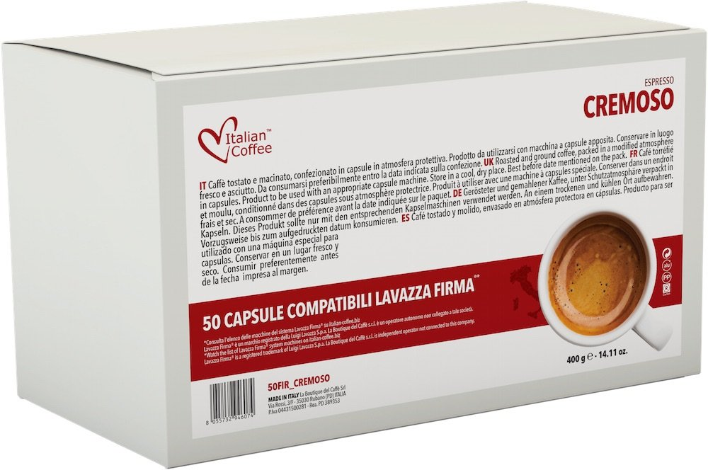 Italian Coffee capsules compatible machines