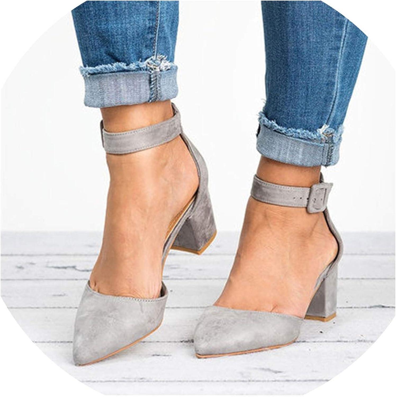 Zombie Jessica Low Heels Sandals Women Ankle Strap Summer shoes Female Plus Size Heels Women shoes Casual Sandals