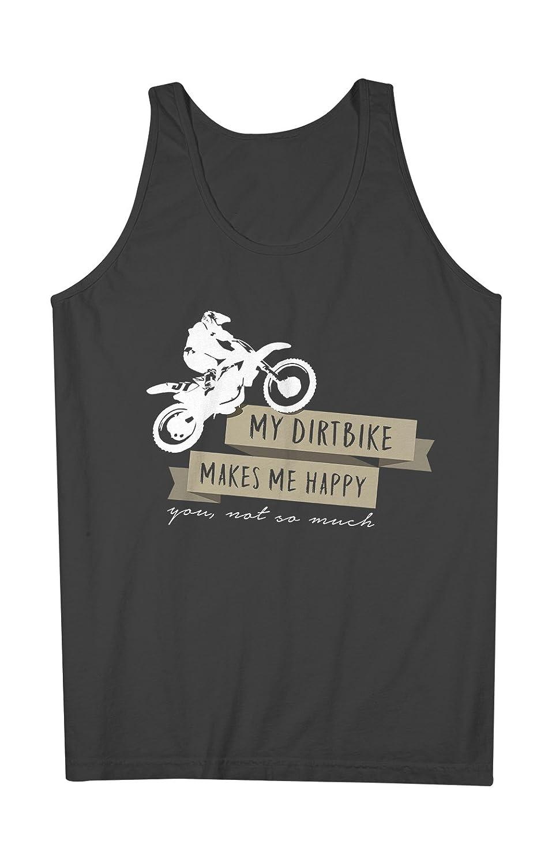 My Dirtbike Makes Me Happy You Not So Much Biker Bike Rider 男性用 Tank Top Sleeveless Shirt