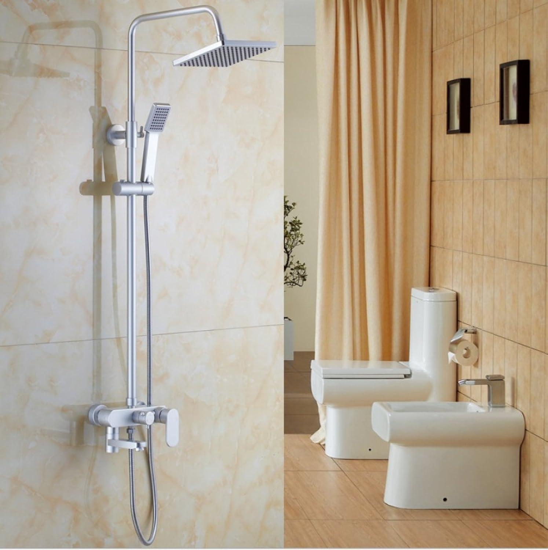 HH shower set shower space aluminum shower set shower set space aluminum shower shower set space aluminum three-speed lift shower wall shower handrail shower