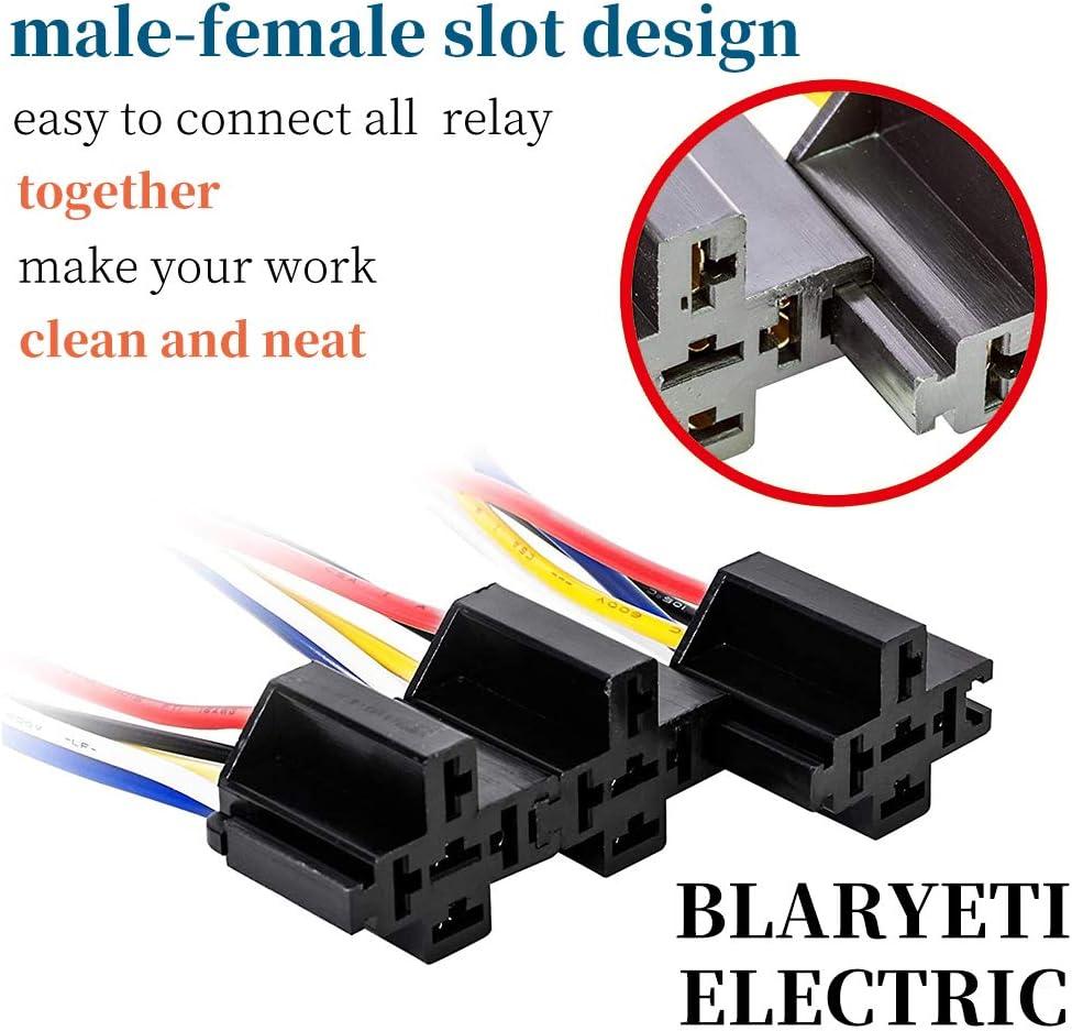 Relays BLARYETI JD40 Automotive Relay Harness Set 40 Pin 40A 40V ...