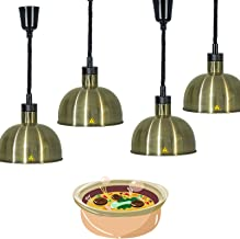 Aprilhp Lampe Chauffante pour Aliments, 250w Lampe Chauffe-Plats pour Pizza et Steak, Lampe D'isolation Alimentaire Rétrac...