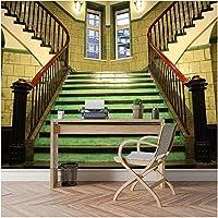 Xbwy 装飾壁画 現代都市の建物の壁紙3D壁3 Dダイニングリビングルーム壁紙階段ホール壁紙壁画デカール-150X120Cm